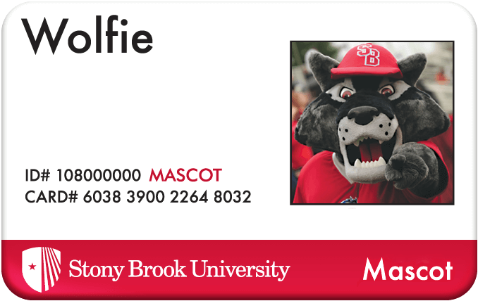 Wolfie Wallet Card from Stony Brook